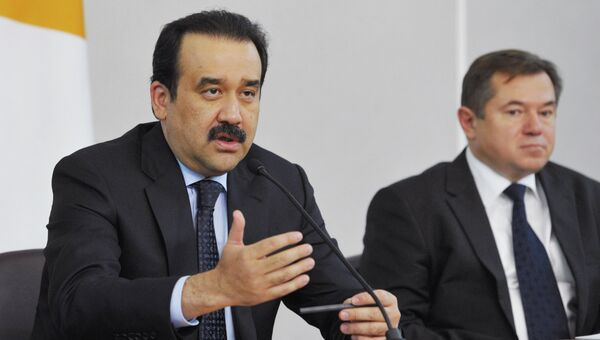 Премьер-министр Казахстана К.Масимов и зам. генерального секретаря ЕврАзЭС С.Глазьев