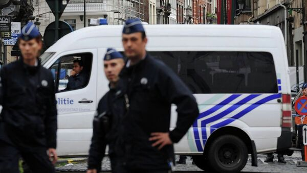 На месте стрельбы в Брюсселе. Архивное фото