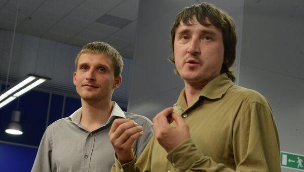Пресс-конференция журналистов LifeNews Олега Сидякина и Марата Сайченко, архивное фото