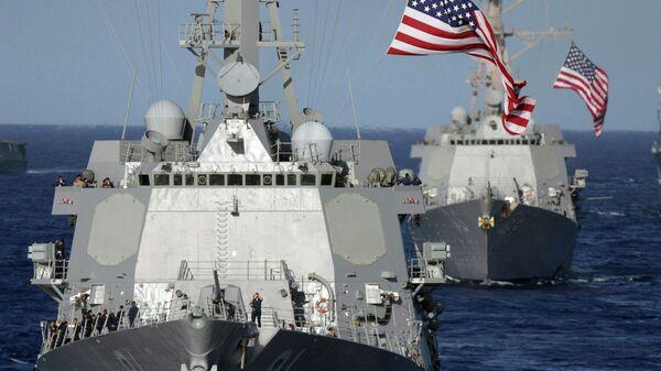 Ракетные эсминцы ВМС США в Тихом океане