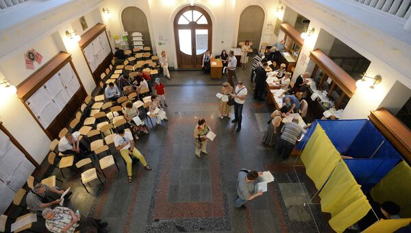Избирательный участок во время внеочередных выборов президента Украины