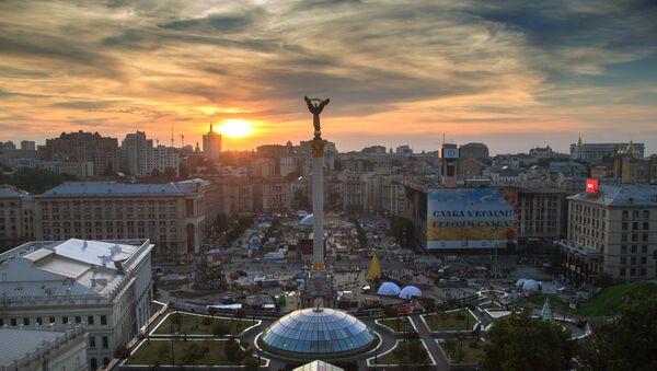Палаточный лагерь на площади Независимости в Киеве. Архивное фото