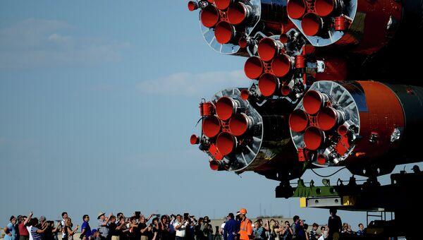 Вывоз ракеты-носителя Союз. Архивное фото