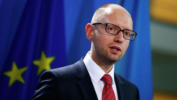 Арсений Яценюк на выступлении в Берлине