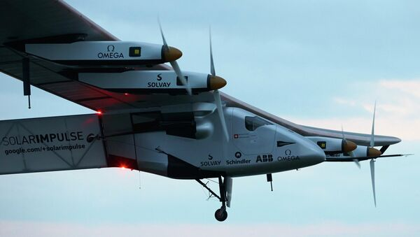 Самолет Solar Impulse 2 на солнечных батареях