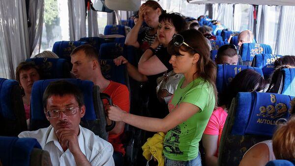 Беженцы с востока Украины