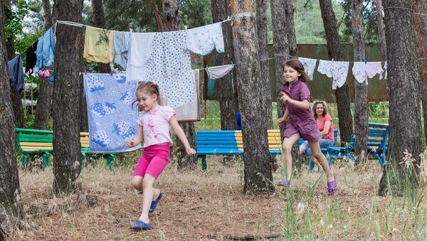Дети из Славянска в детском лагере Прометей, архивное фото