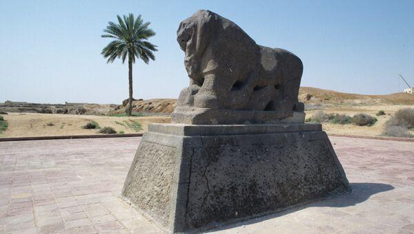 Скульптура льва, Вавилон. Архивное фото