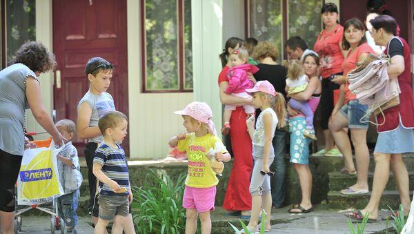 Украинские беженцы в центре Дмитриадовский в Ростовской области
