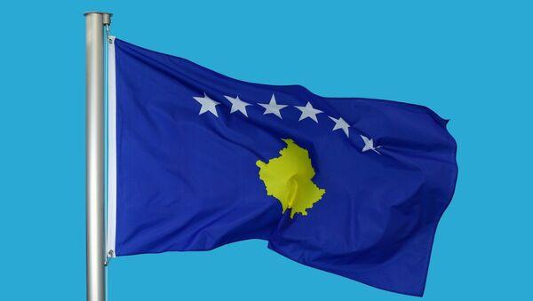 Флаг Республики Косово. Архивное фото