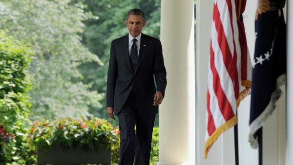 Президент США Барак Обама в Розовом саду Белого дома. Архивное фото