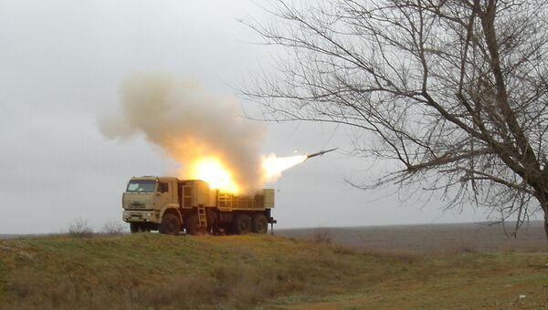 Пуск ракеты Панцирь-С1