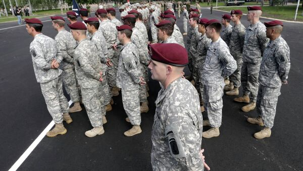 Американские военнослужащие на военных учениях НАТО в Латвии