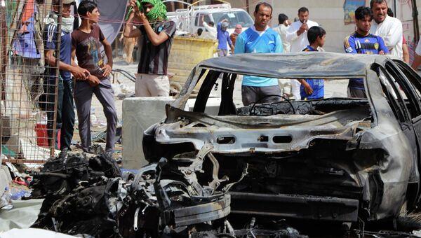 Ситуация в Ираке. 11 июня 2014 года начиненный взрывчаткой автомобиль взорвался возле города Басра