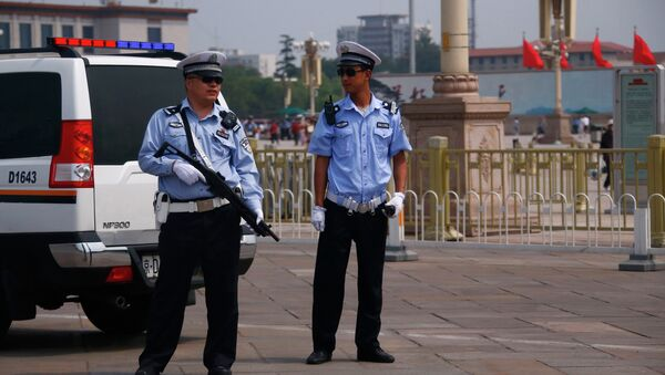 Работа полиции в Китае
