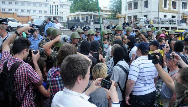 Ситуация у российского консульства в Одессе