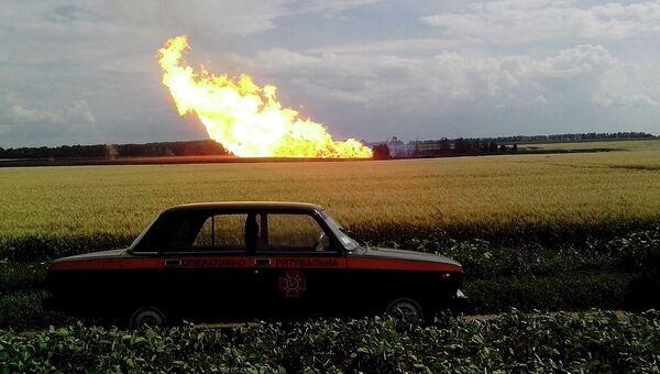 Взрыв на газопроводе Уренгой — Помары — Ужгород на Украине