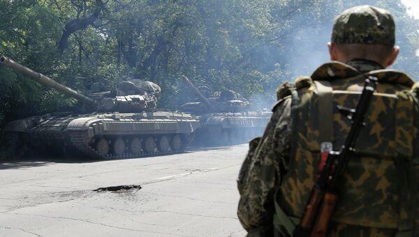 Боец народного ополчения в Донецкой области. Архивное фото