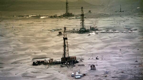 Буровые установки в Туркмении. Архивное фото