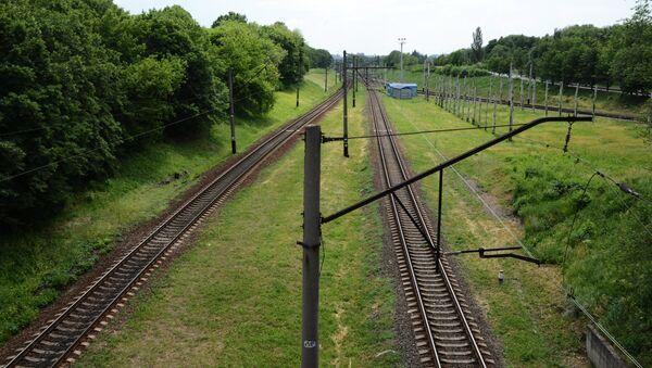 Железная дорога в Донецкой области. Архивное фото