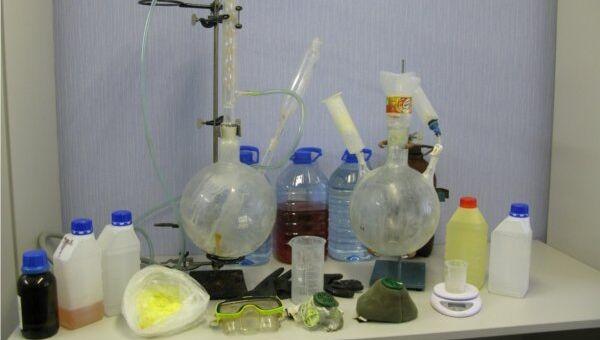 Лаборатория по производству амфетамина. Архивное фото