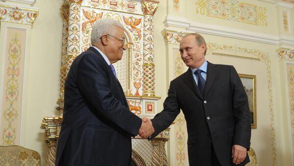 Владимир Путин и Махмуд Аббас. Архивное фото