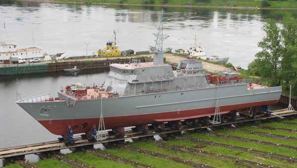 Головной корабль противоминной обороны нового поколения Александр Обухов. Архивное фото