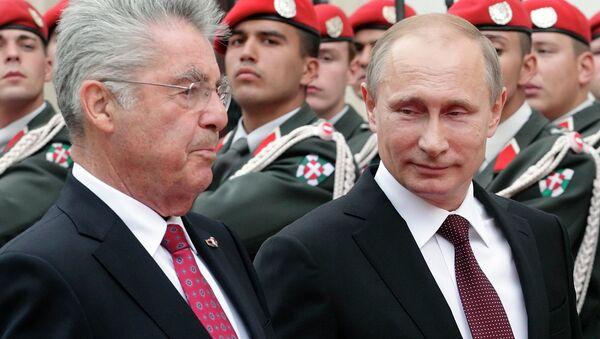Рабочий визит президента России Владимира Путина в Австрию. Архивное фото.