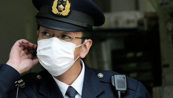 Японский полицейский, архивное фото