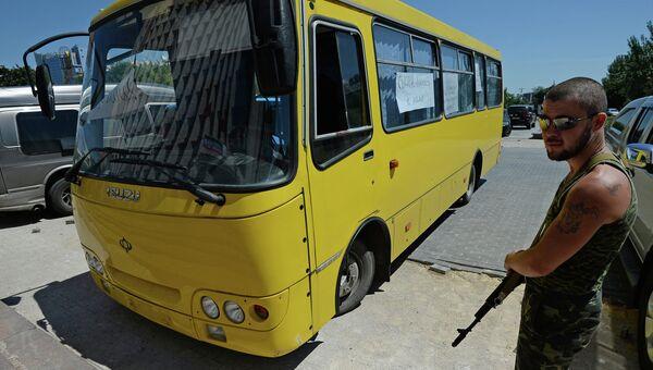 Автобус, в котором погиб оператор Первого канала Анатолий Клян