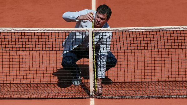 Теннисный корт. Архивное фото.