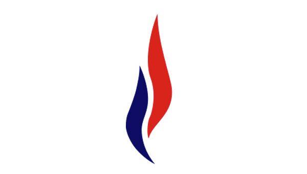 Эмблема организации Национальный фронт Франции. Архивное фото