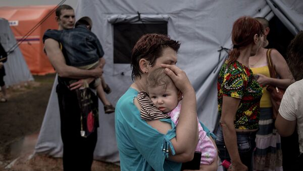 Лагерь беженцев из Украины