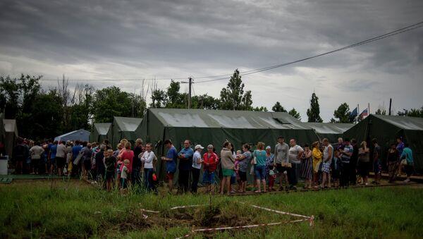 Лагерь беженцев с Украины в Ростовской области. Архивное фото