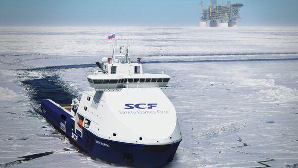 Вспомогательное судно обеспечения буровых платформ