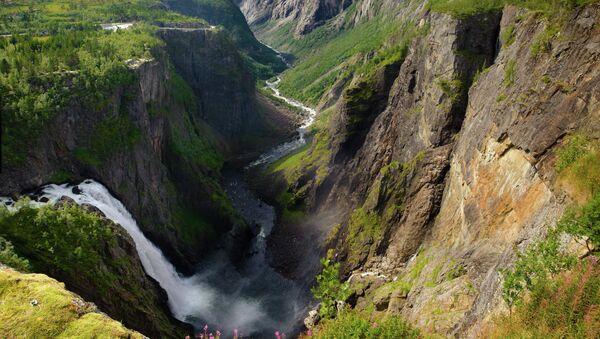 Норвежский водопад Вёрингфоссен. Архивное фото
