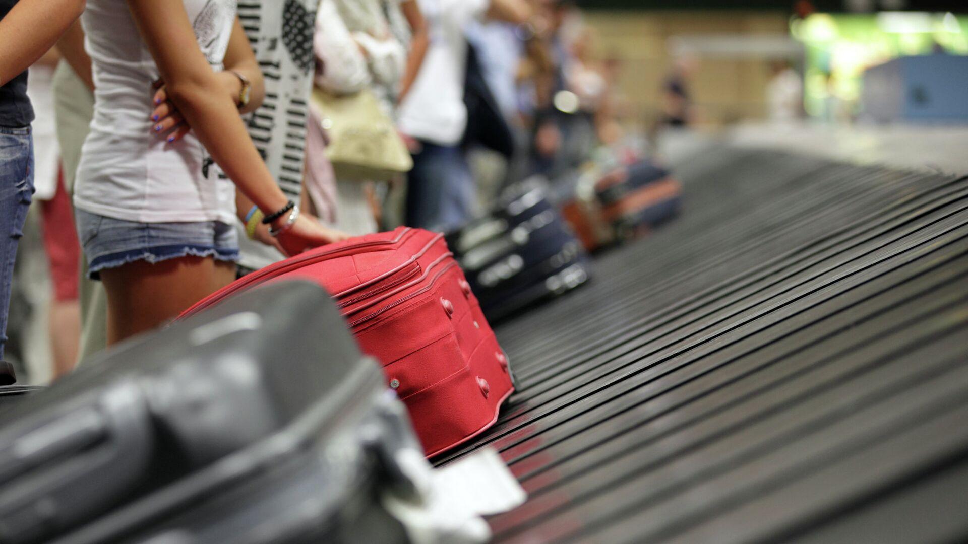 Туристы с чемоданами в аэропорту - РИА Новости, 1920, 25.09.2021