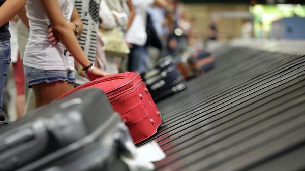 Туристы с чемоданами в аэропорту. Архивное фото.
