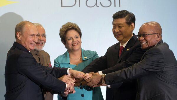 Лидеры стран БРИКС во время саммита. Архивное фото