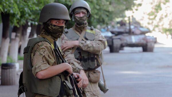 Солдаты украинской национальной гвардии. Архивное фото.