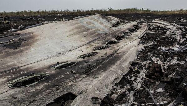 Останки самолета Boeing 777, рухнувшего на Украине. Архивное фото