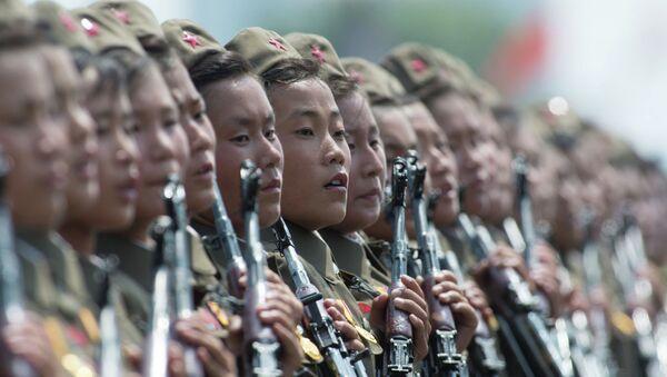 Военнослужащие КНДР. Архивное Фото.