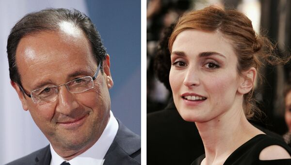 Франсуа Олланд и Жюли Гайе