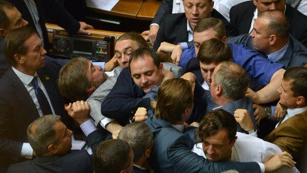 Депутаты Верховной Рады на заседании украинского парламента