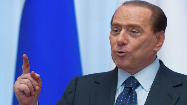 Сильвио Берлускони на пресс-конференции