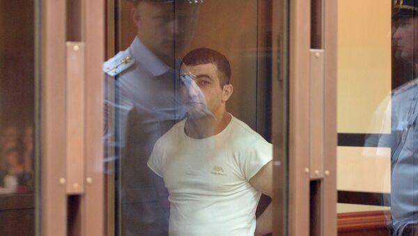 Орхан Зейналов, обвиняемый в убийстве Егора Щербакова, в Мосгорсуде во время оглашения приговора
