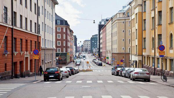 На одной из улиц в Хельсинки. Архивное фото.