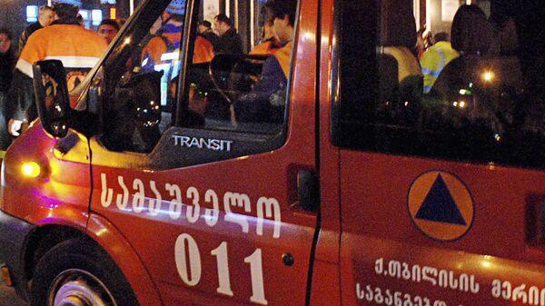Пожарная машина в Грузии. Архивное фото