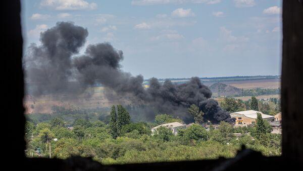 Бои в городе Шахтерск под Донецком. Архивное фото
