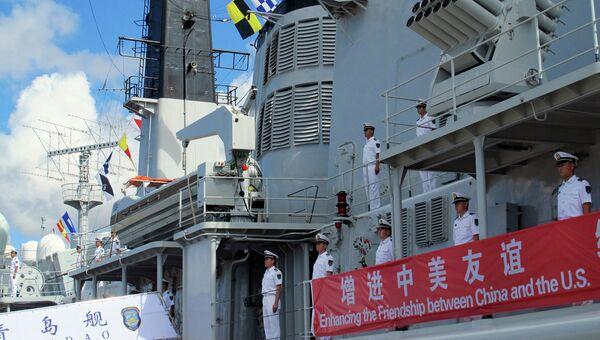 Китайский военный корабль. Архивное фото